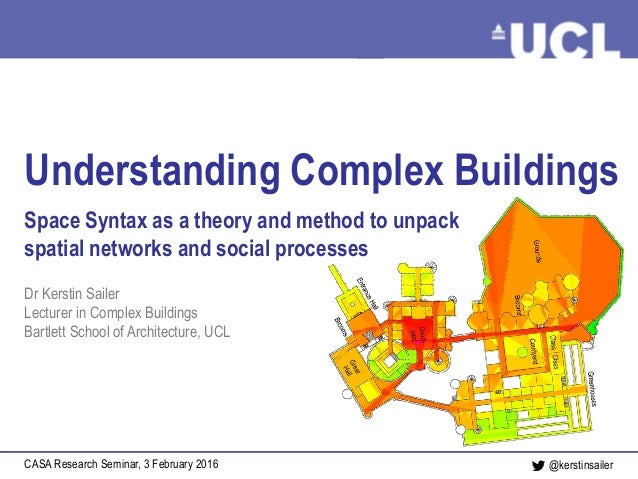 Understanding Complex Buildings Sailer, February 2016@kerstinsailer Understanding Complex Buildings Space Syntax as a theo...