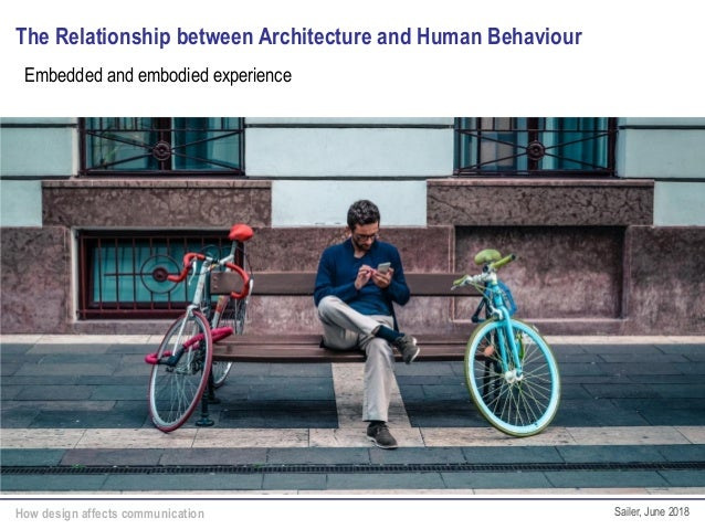 How design affects communication Sailer, June 2018 The Relationship between Architecture and Human Behaviour Embedded and ...