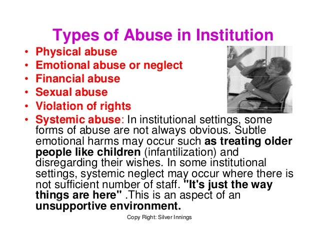 Organisational or Institutional abuse
