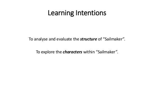 sailmaker essay plan