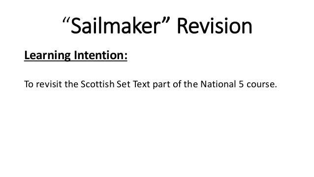 sailmaker alan spence critical essay