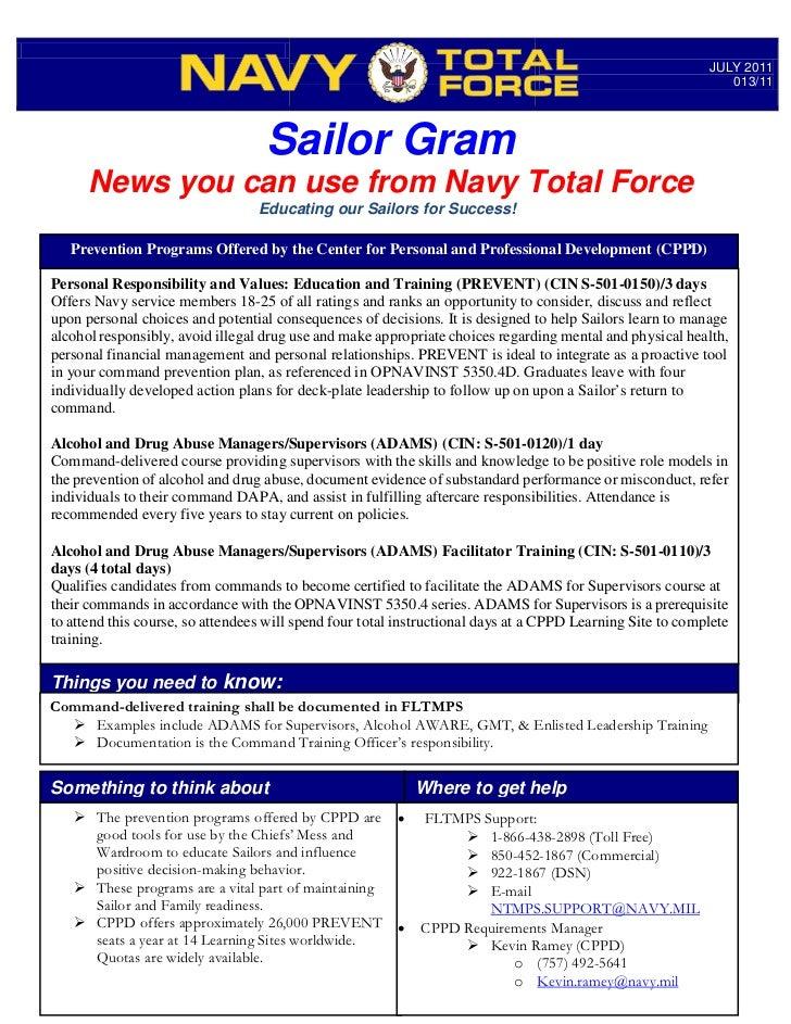 Sailor Gram 013 11 Prevention Programs