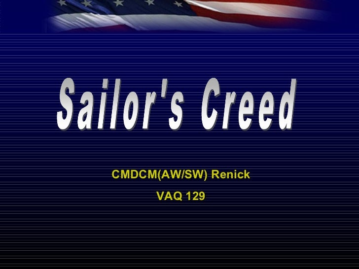 sailors creed cmdcmawsw renick vaq