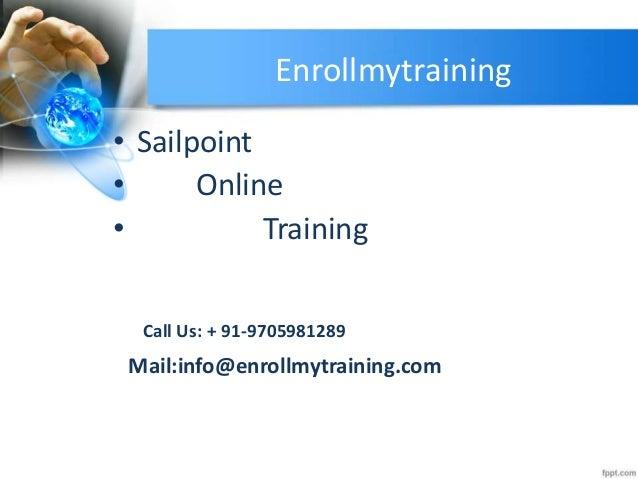 Sailpoint online training