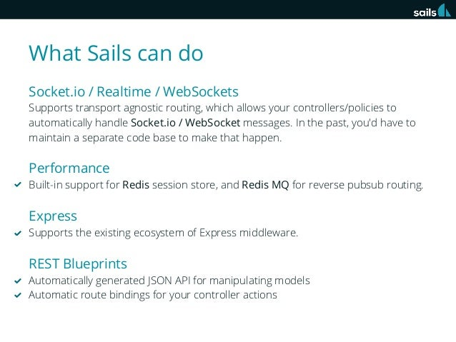 Sails framework instroduction rest blueprints automatically generated json api for manipulating models automatic route bindings for your controller actions 3 malvernweather Gallery
