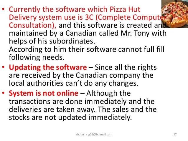 "pizza hut information system The challenge: ""pizza hut needed a system that was 'fit for the 21st century' and the candidate market, as the method of applying for roles is changing."