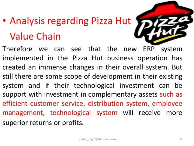 management information system pizza hut Pizza hut swot analysis is covered on this page along with usp & competition it also includes pizza hut's segmentation, targeting & positioning (stp) along with tagline & slogan.