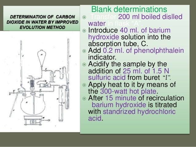 determination of carbonic acid Ph used in the determination  weak acids such as carbonic and acetic and hydrolyzing salts such as iron or  have high acid neutralizing capacity.