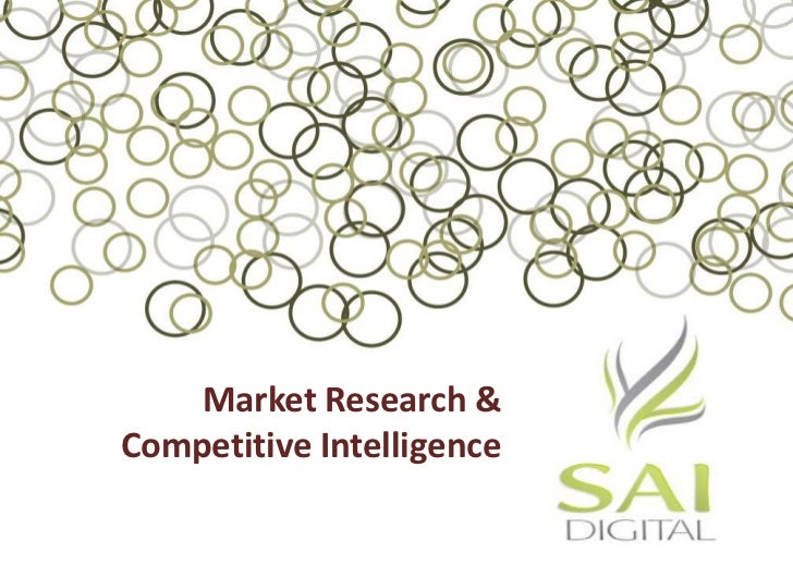 Market Research & Competitive Intelligence<br />