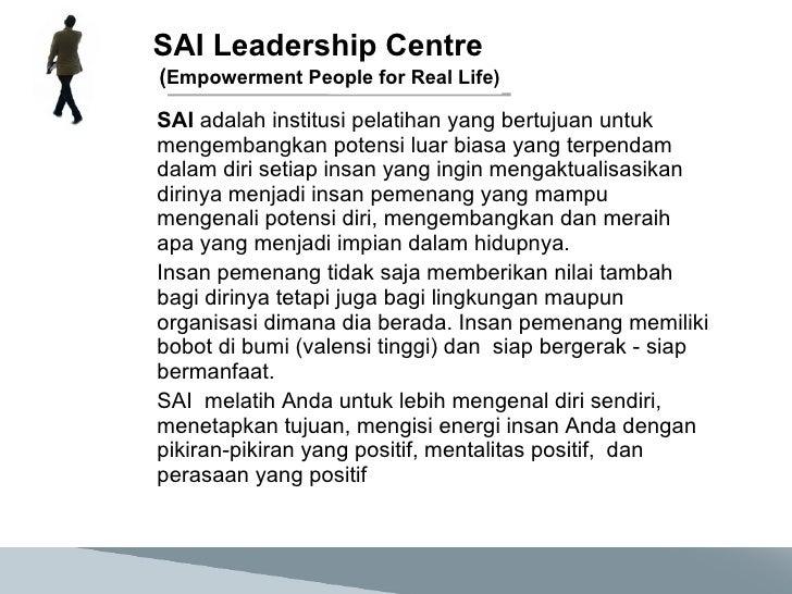 SAI Leadership Centre Slide 2