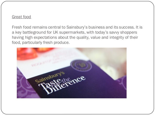 sainsburys opportunities for expansion analysis Sainsbury's has defied the odds by having a good recession, now it's on the expansion trail, tim danaher finds out more about its plans.