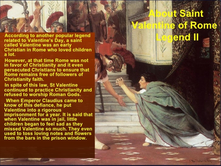 ... 5. About Saint Valentine ...