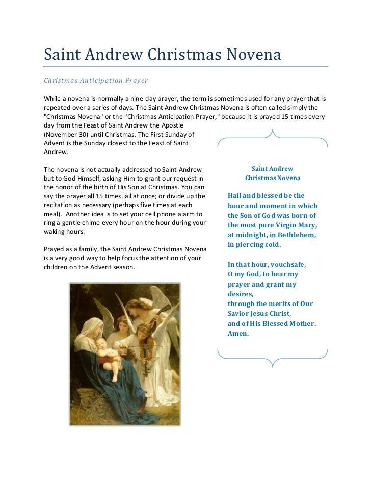 Saint Andrew Christmas Novena/Christmas Anticipation Prayer