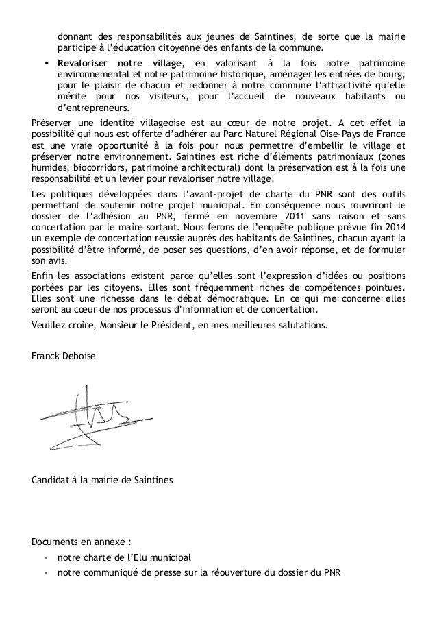 donnant des responsabilités aux jeunes de Saintines, de sorte que la mairie participe à l'éducation citoyenne des enfants ...