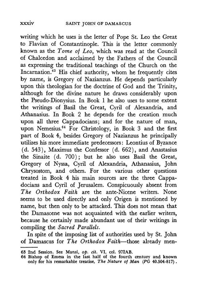 fount of knowledg on heresies by saint john damascene
