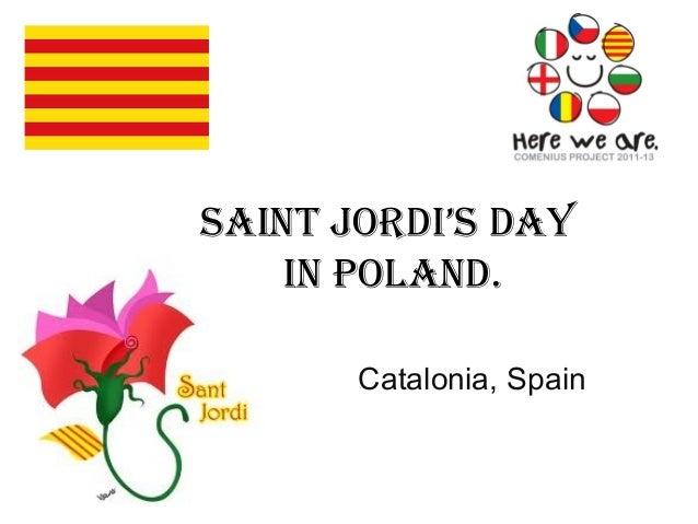 Saint Jordi'S dayin Poland.Catalonia, Spain