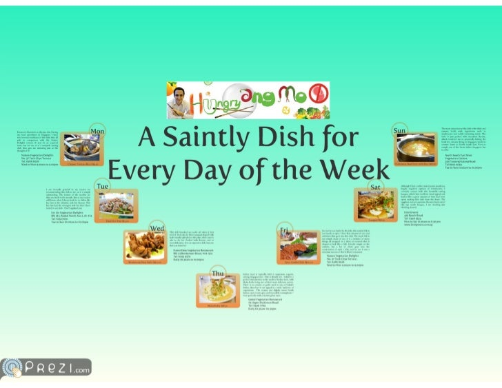 A Saintly Dish for Every Day of the Week
