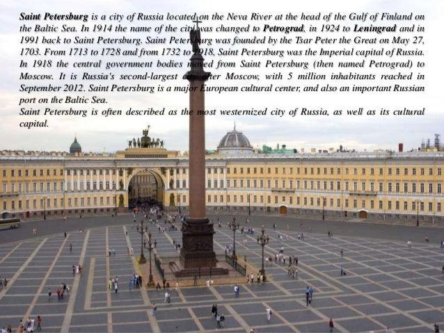 Saint Petersburg (Russia) Slide 2