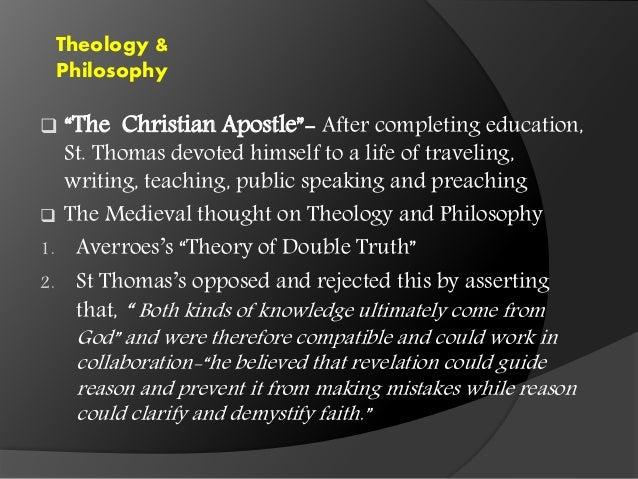 Thomas aquinas faith and reason essay