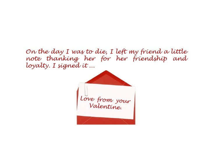 Saint Valentine   Story. 9.