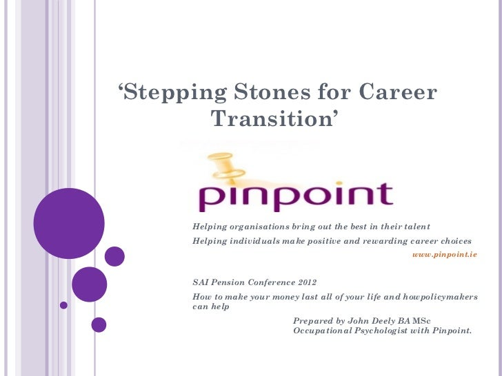 'Stepping Stones for Career        Transition'      Helping organisations bring out the best in their talent      Helping ...