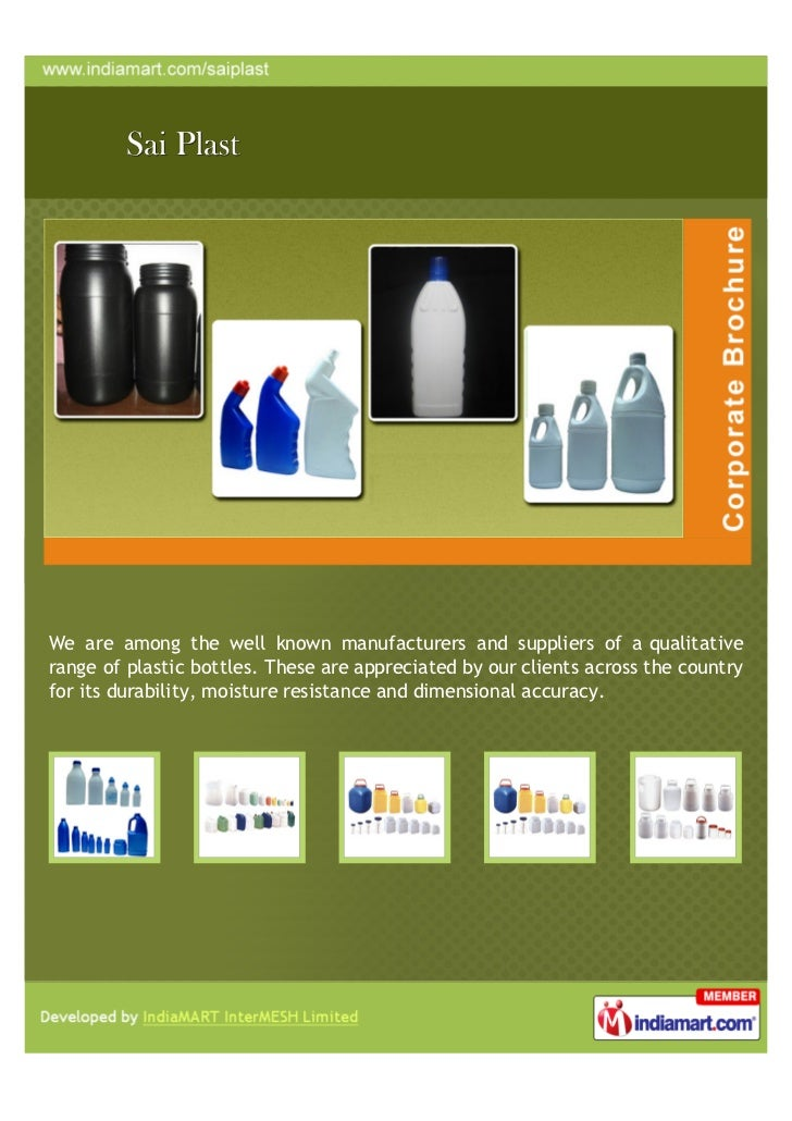 We are among the well known manufacturers and suppliers of a qualitativerange of plastic bottles. These are appreciated by...