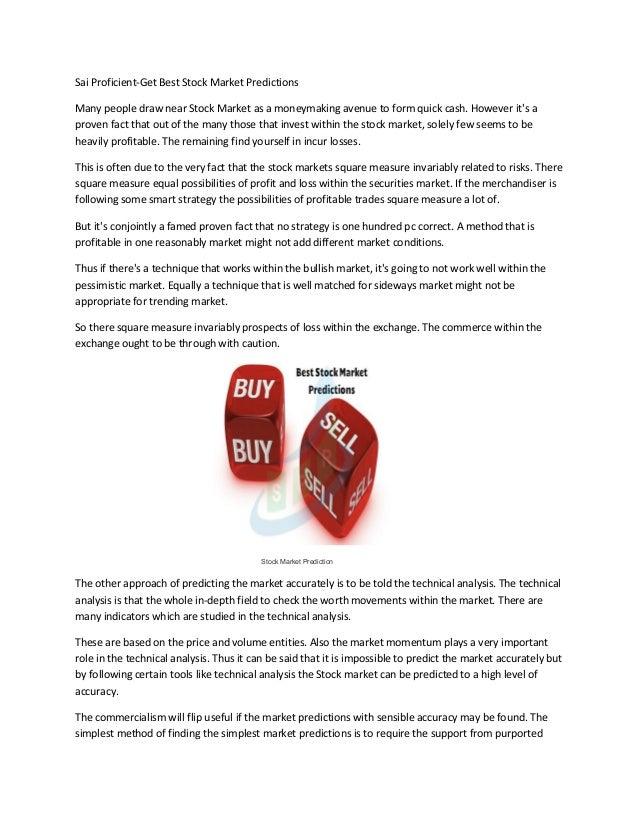 Sai Proficient- Stock Market- Trading Tips