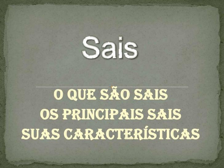 O Que São Sais  Os Principais SaisSuas Características