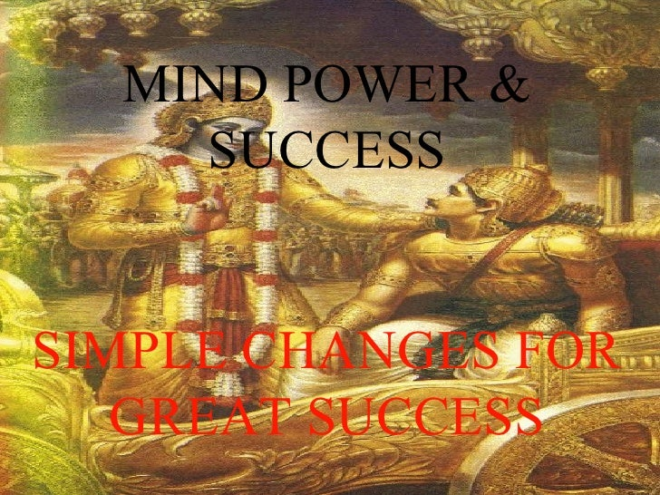 MIND POWER & SUCCESS SIMPLE CHANGES FOR GREAT SUCCESS