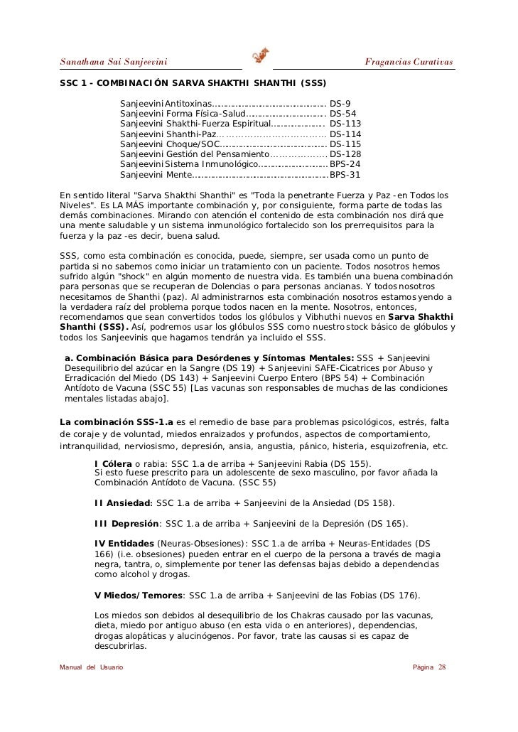 Sanathana Sai Sanjeevini                                                  Fragancias Curativas         VI Hiperactividad: ...