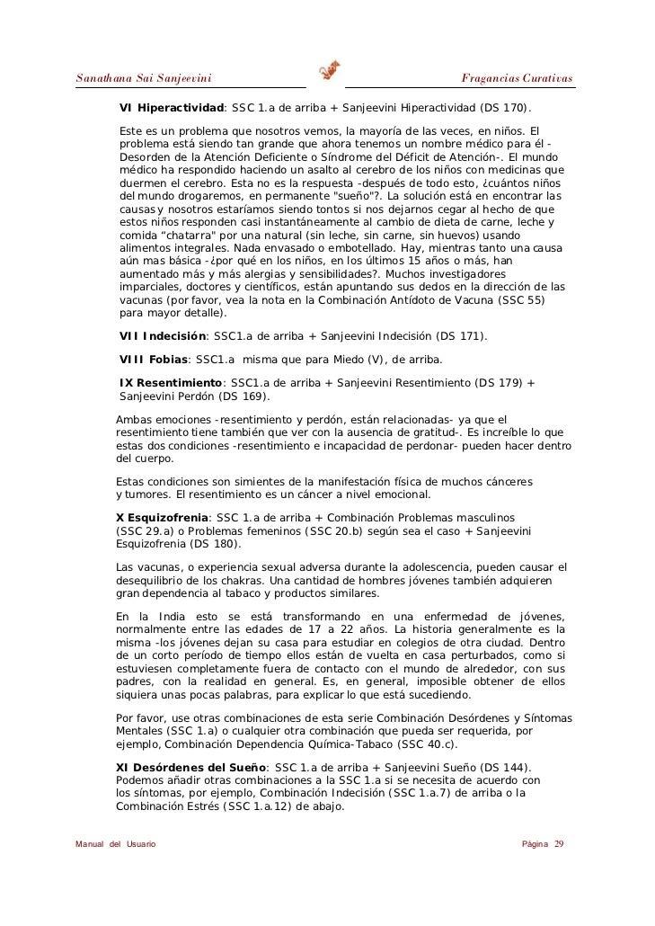 Sanathana Sai Sanjeevini                                                  Fragancias Curativas        XII Estrés (Tensión,...