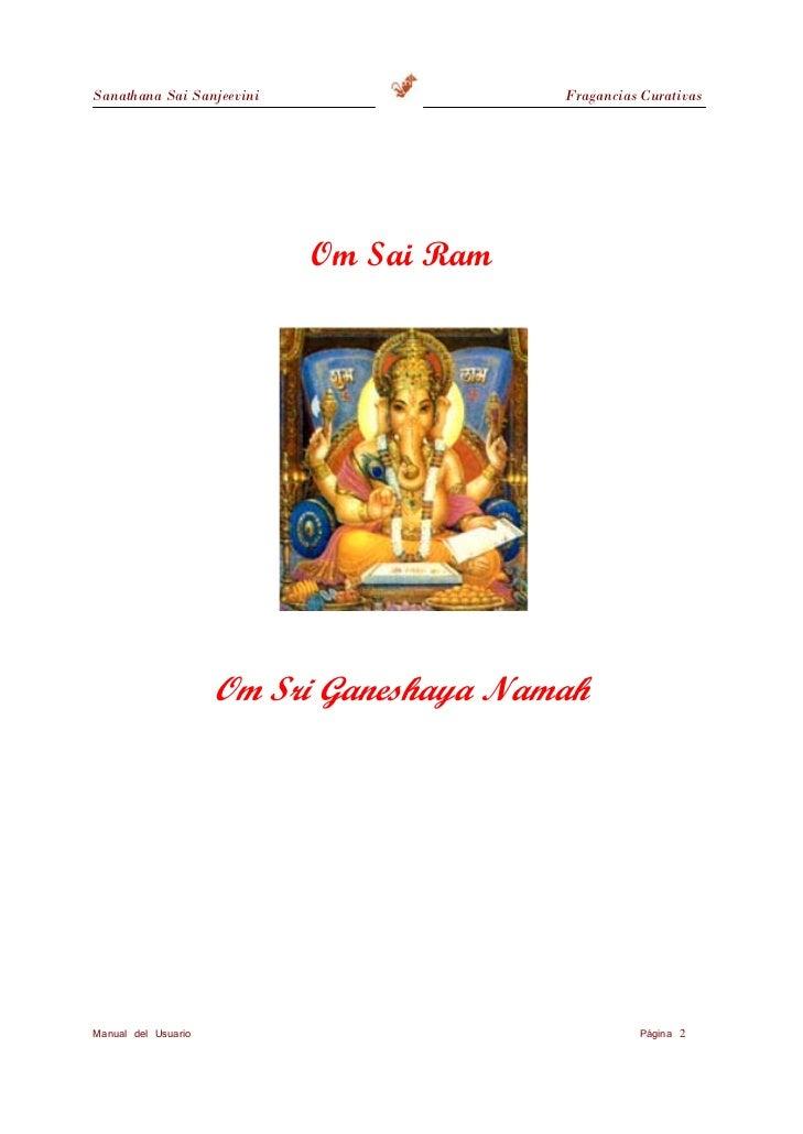 Sanathana Sai Sanjeevini                     Fragancias Curativas                            Om Sai Ram                   ...