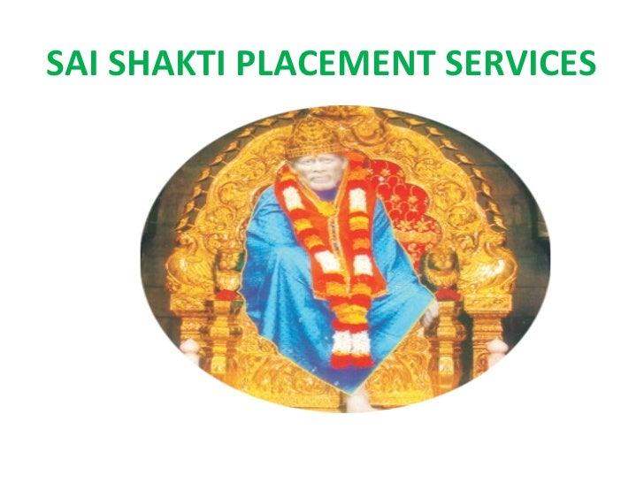 SAI SHAKTI PLACEMENT SERVICES