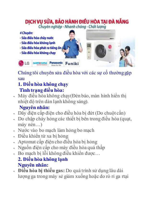 SỬA ĐIỀU HÒA tại Đà Nẵng giá rẻ mà HIỆU QUẢ 100% có BH Slide 2