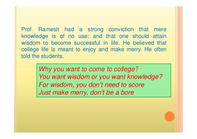 Sai worldly wisdom vs knowledge