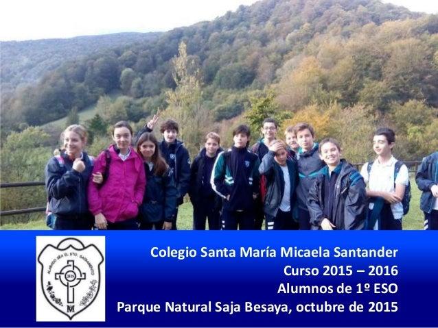 Colegio Santa María Micaela Santander Curso 2015 – 2016 Alumnos de 1º ESO Parque Natural Saja Besaya, octubre de 2015