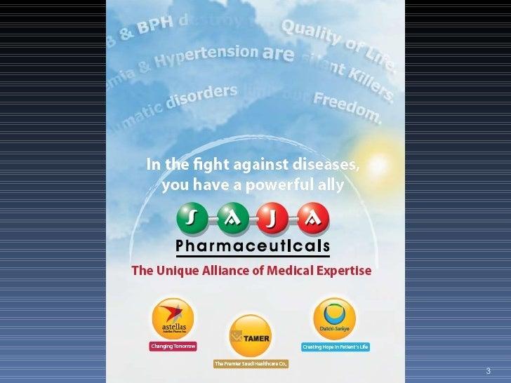 Saja Pharmaceuticals Corporate Profile - Saudi Japanese - JAPAN - KSA-  Slide 3