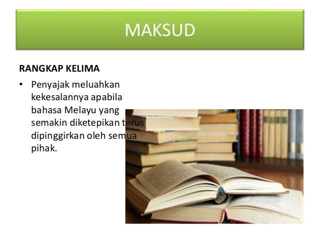 TEMA Bahasa Melayu yang semakin dipinggirkan