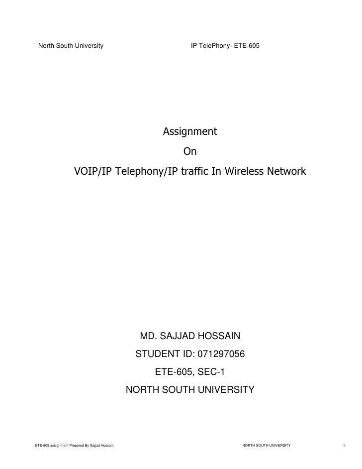 North South University                                    IP TelePhony- ETE-605                                           ...