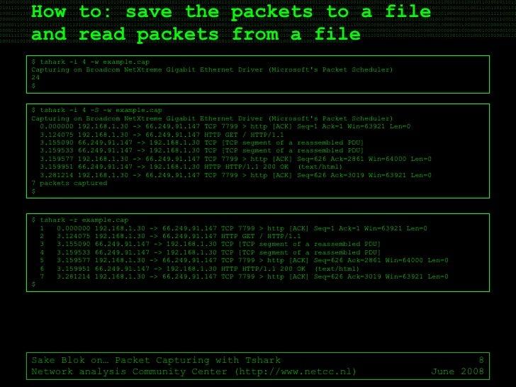 Ostu Sake Blok On Packet Capturing With Tshark
