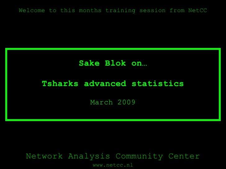 Tsharks advanced statistics March 2009