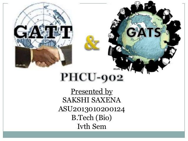 GATT : General Agreement on Tariffs and Trade and GATS ...