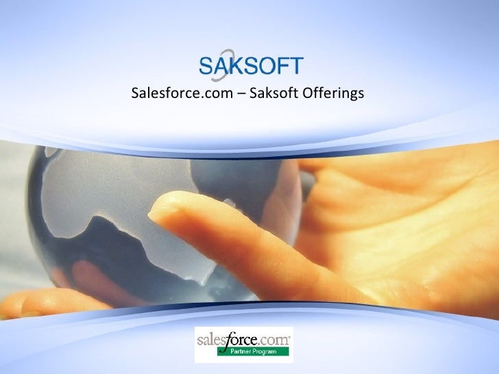 Salesforce.com – Saksoft Offerings