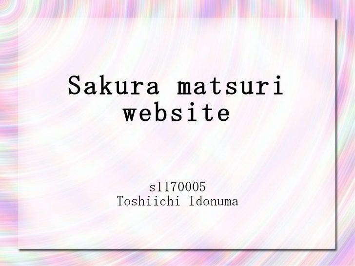 Sakura matsuri website s1170005 Toshiichi Idonuma