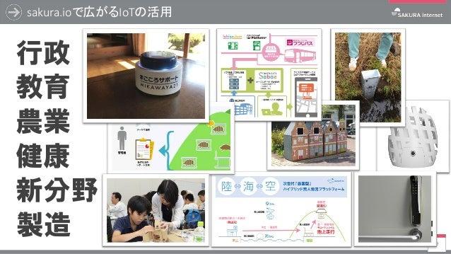 sakura.ioで広がるIoTの活用 9 農業 教育 行政 製造 健康 新分野
