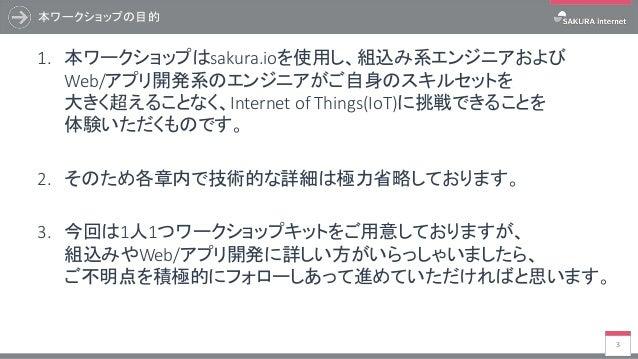 【最新版誘導用】駅すぱあとWebサービス&sakura.io体験ハンズオン Slide 3