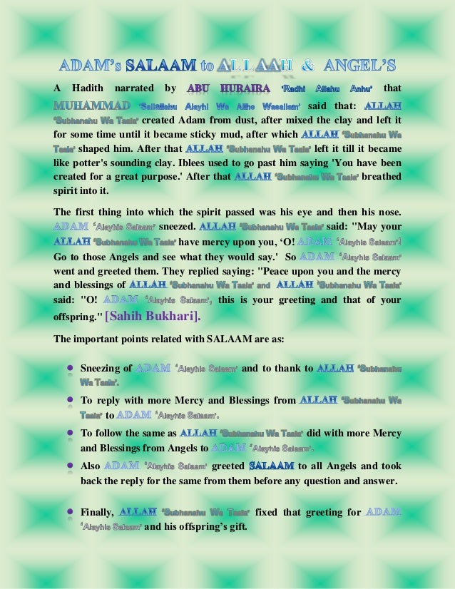 Salaam and its importance in islam 10 m4hsunfo