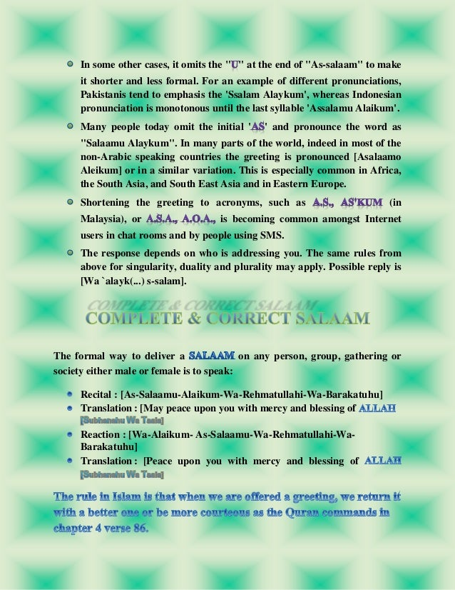 Salaam and its importance in islam 20 m4hsunfo