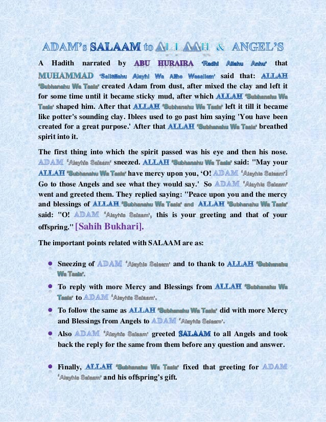 Salaam and its importance in islam 12 m4hsunfo