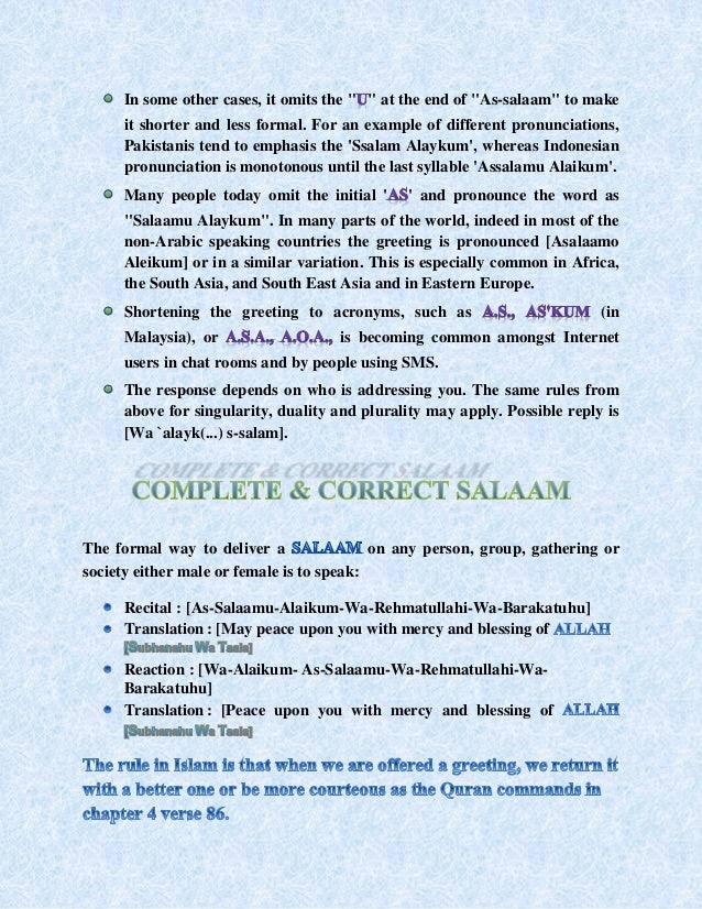 Salaam and its importance in islam 30 m4hsunfo